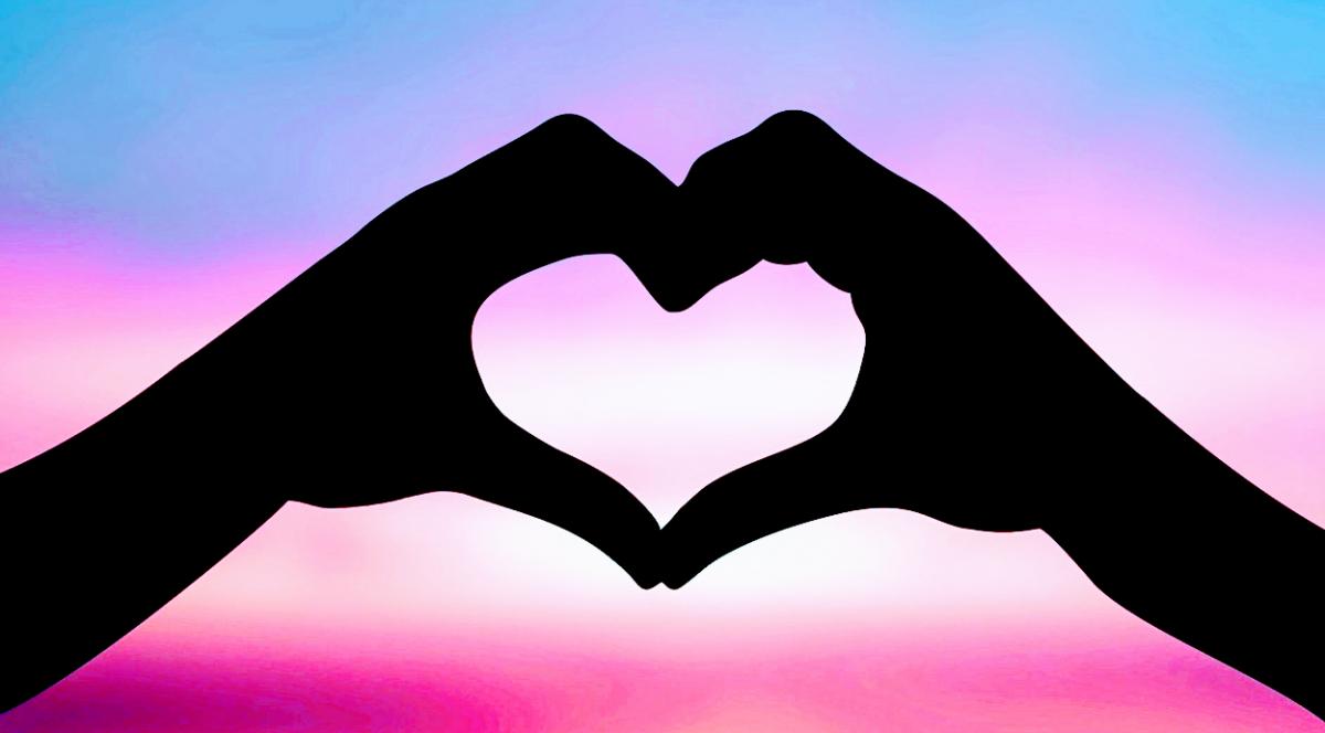 simbolo di altruismo con mani unite