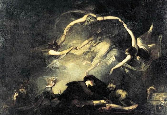 Dipinto di Johan Heinrich Fussli: Incubo datato 1781